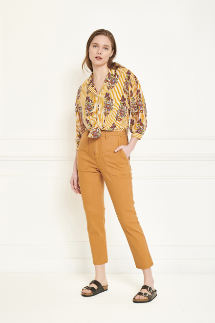 Trousers - POFINA - CHESTNUT