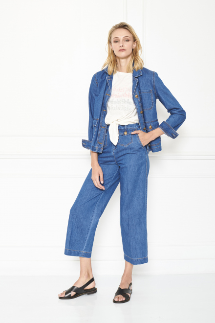 Trousers - PIPLIN - BLUE