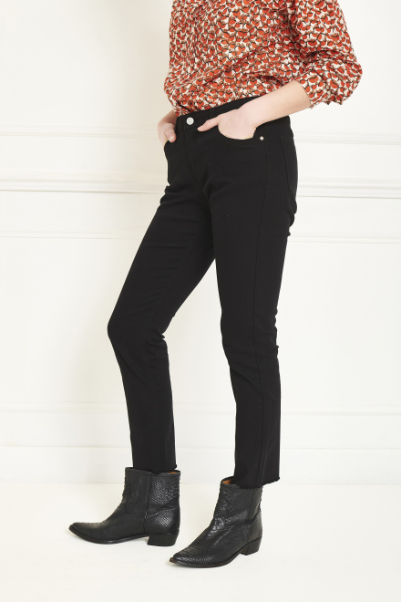 Trousers - THE KATE NEW DRILL - BLACK