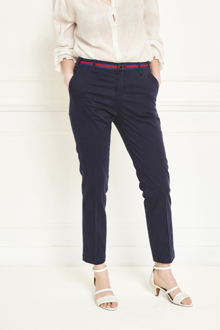 Trousers - THE SUNSET FANCY - NAVY