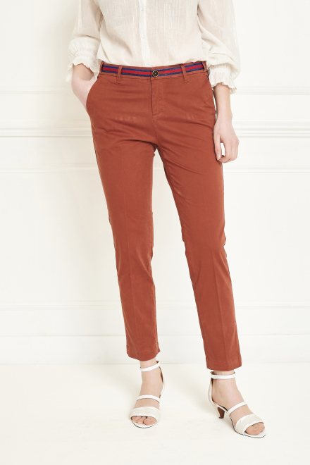 Trousers - THE SUNSET FANCY - Rust