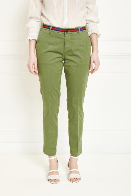 Trousers - THE SUNSET FANCY - MOSS GREEN