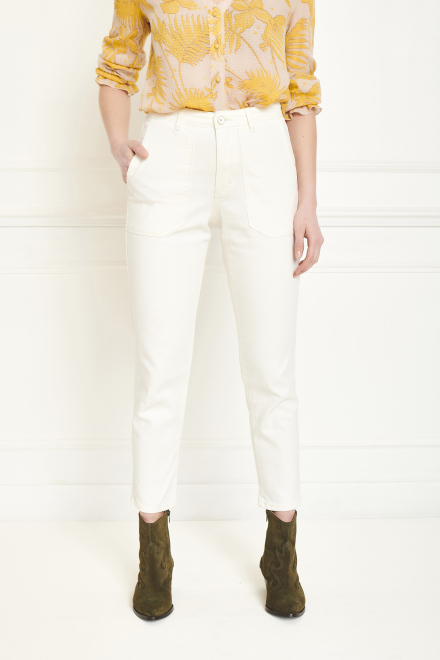 Trousers - POFINA - OFF WHITE