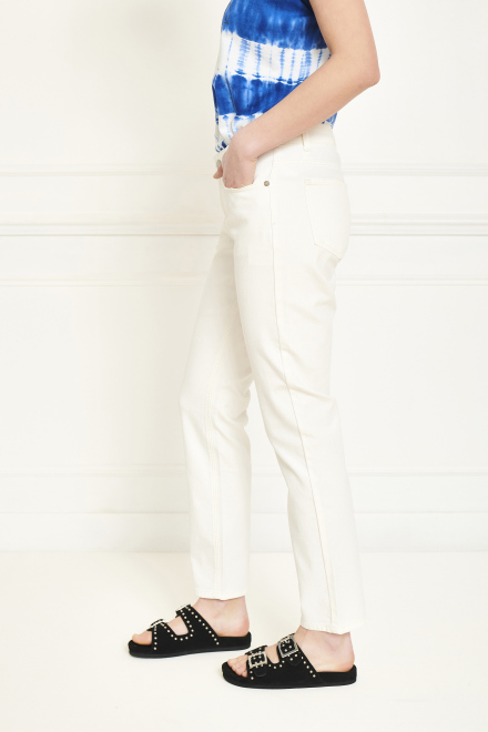 Trousers - THE BIRKIN NEW DRILL - OFF WHITE