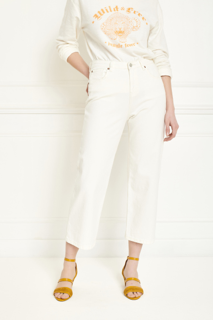 Trousers - THE EMMA NEW DRILL - OFF WHITE