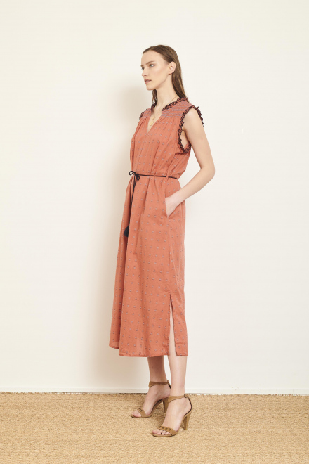 Dress - RICITA - TERRACOTTA