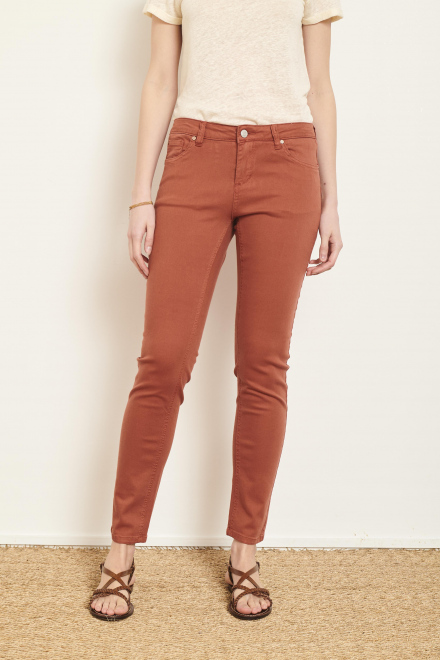 Trousers - THE BARDOT SPRING STRETCH - Rust
