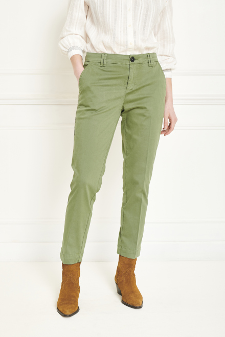 Trousers - PANAMO - MOSS GREEN
