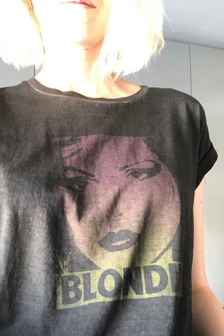 T-shirt - TYDIE BLONDIE - Black