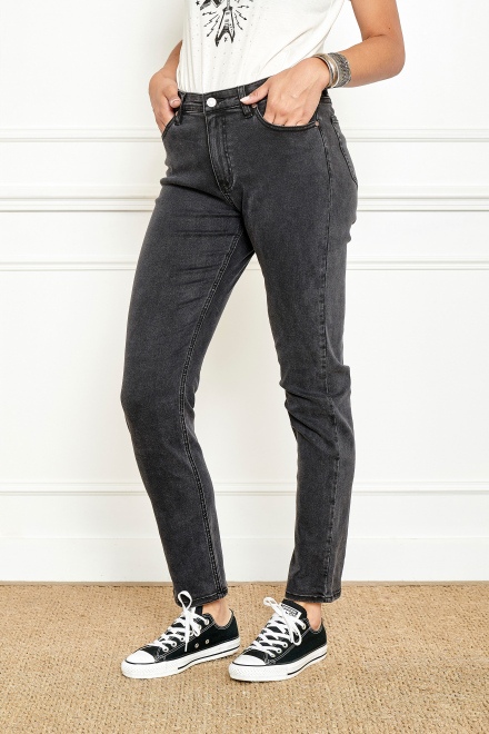 Jean - The OLSO POWER STRETCH - Black garbage