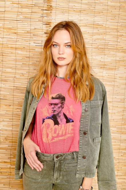 T-shirt - TROY BOWIE - PINK